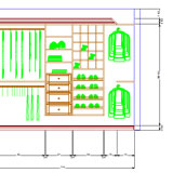 CABINET VISION Solid Advanced for Closets elevation view CAD drawing